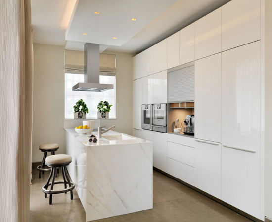 Modern High Gloss Kitchen Cabinet Simple Designs