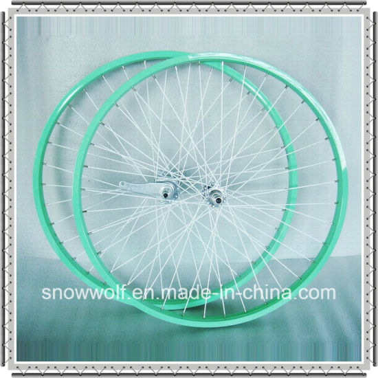 Coaster Brake Alloy Color Rim 26 Inch Bicycle Wheel for Beach Cruiser Bicycle (AWHS-308-1)