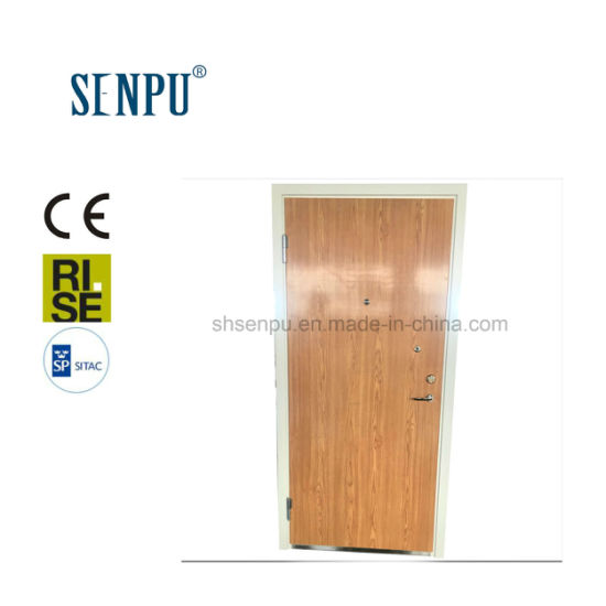Sweden Sp Certified Residential Use Interior Steel Frame with Wooden Veneer Door pictures & photos