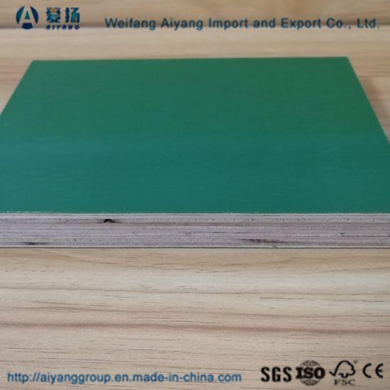 China PVC PP Plastic Faced Plywood for Construction Usuage Times 10
