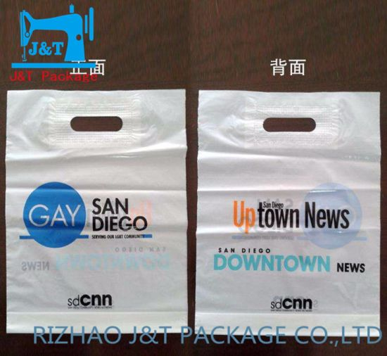 Whole Custom Size Printing Plastic Made Ping Bags With Cut