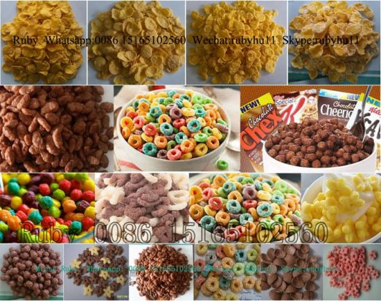 Automatic Breakfast Cereal Corn Flakes Machinproduction Line pictures & photos