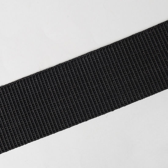 48mm Black Woven Elastic Rubber Band for Sewing pictures & photos