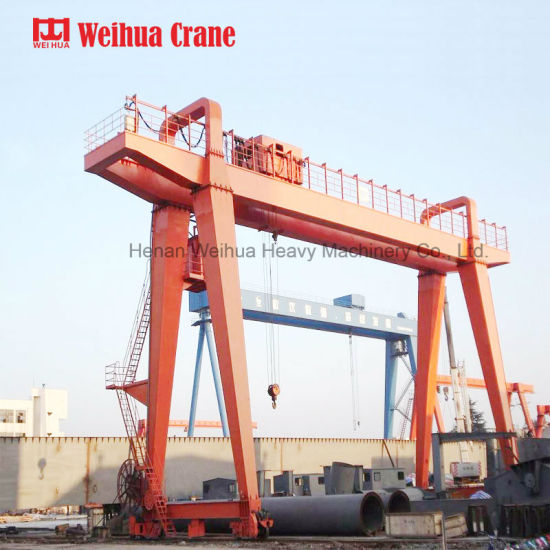 Weihua Double Girder Mobile Outdoor Gantry Crane 25t for Sale