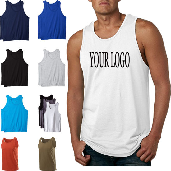 dc370b2d Bulk Wholesale Plain 100% Cotton Fitness Vest, Custom Sleeveless Mens Tank  Top