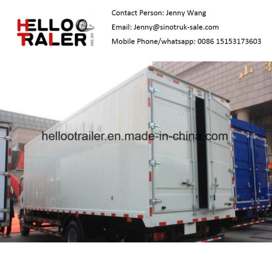 HOWO 4X2 160HP 8~10 Ton Small Cargo Van Box Truck