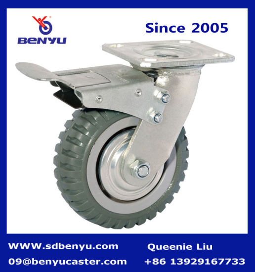 Heavy Duty Tyre Caster with Total Brake