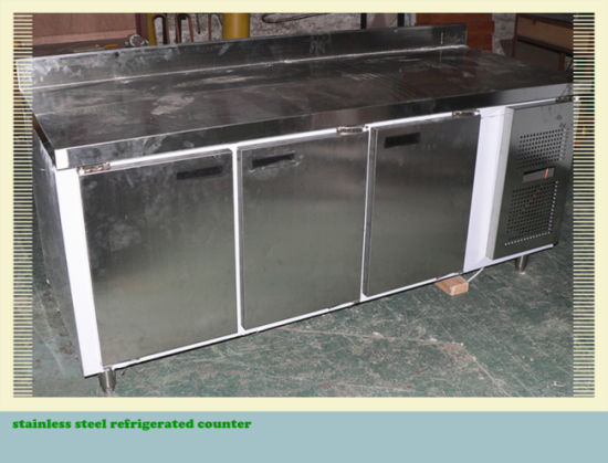 Stainless Steel Refrigerated Counter with New Technology