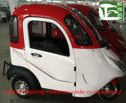 Three Wheel Electric Covered Passenger Tricycle for Shopping