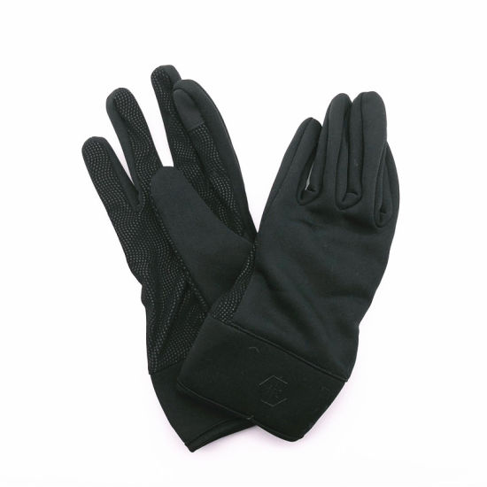 2018 Popular Fashion Design Leather Fleece Nonwoven PU Warm Gloves on Sales pictures & photos