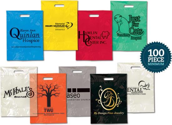 Die Cut Handle Gift Plastic Bag / Promotional Bag