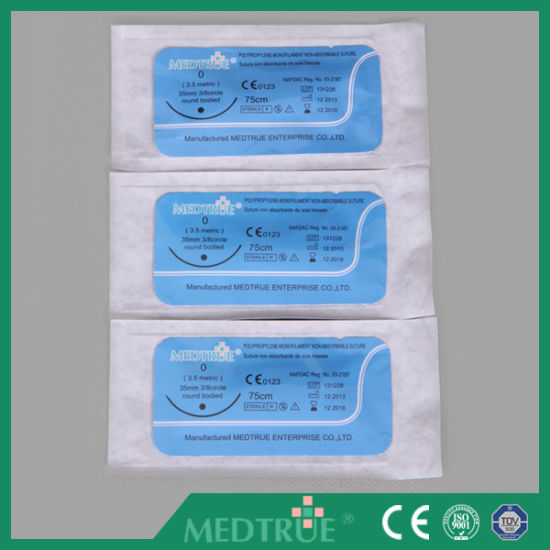 High Quality Disposable Surgical Suture with CE&ISO Certification (MT580F0708) pictures & photos