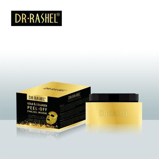 Dr Rashel Anti Wrinkle Whitening Face Mud Mask Peel off Gold Collagen Facial Mask