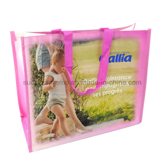 Full Colors Reusable PP Woven Bag, Tote Bag for Promotion