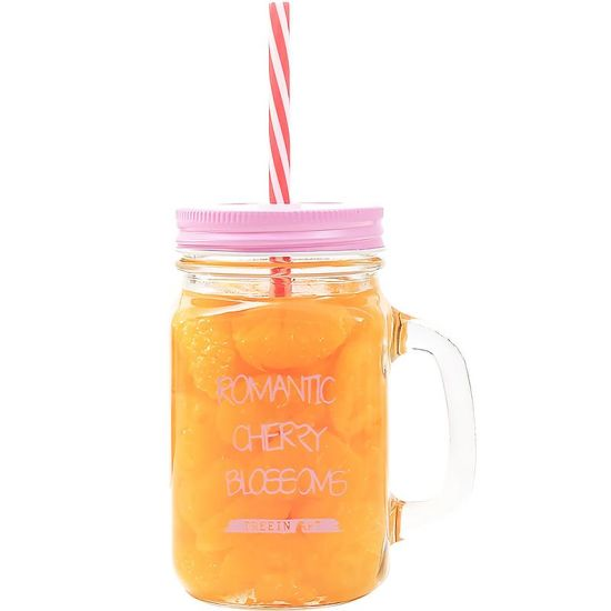 Hot Sell Spray Color Glass Mason Mug with Straw