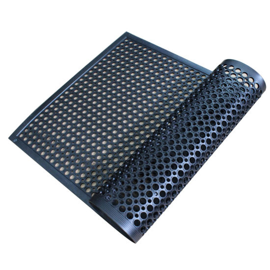 China Industrial Anti-Fatigue Drainage Kitchen Rubber Floor Mat ...