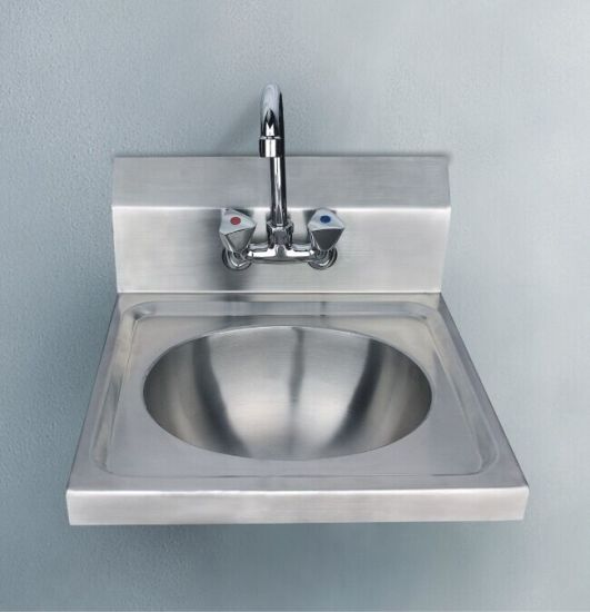 China Commercial Used Wallmounted Round Bowl Stainless Steel Wash - Commercial wall mounted bathroom sinks