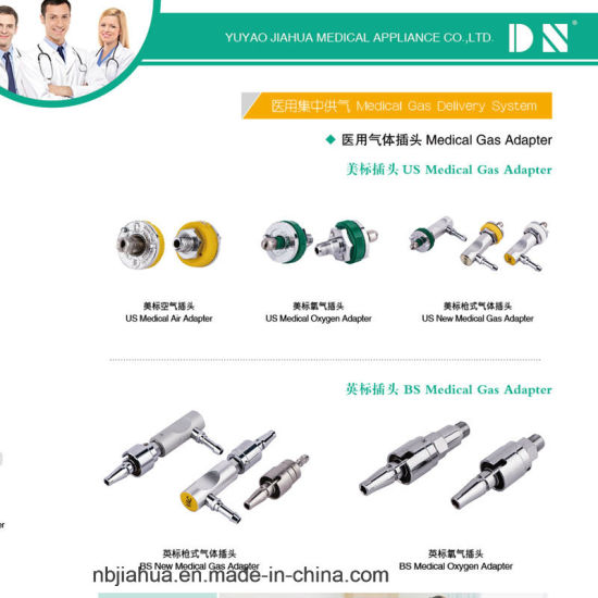 China Hot Sale Different Standard Medical Gas Terminal/Outlet O2/Air ...