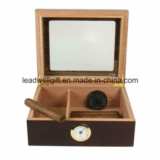 25-50 Cigar Desktop Humidor Royale Glasstop pictures & photos