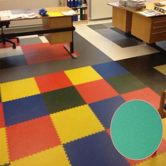 China Interlocking Gym Floor Tile Pvc Gym Flooring Tiles For