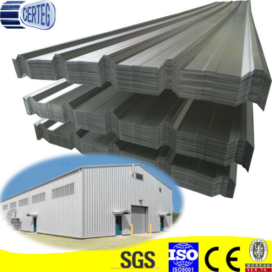 Trapezoid Galvanized or Galvalume Steel Metal Roof Sheet