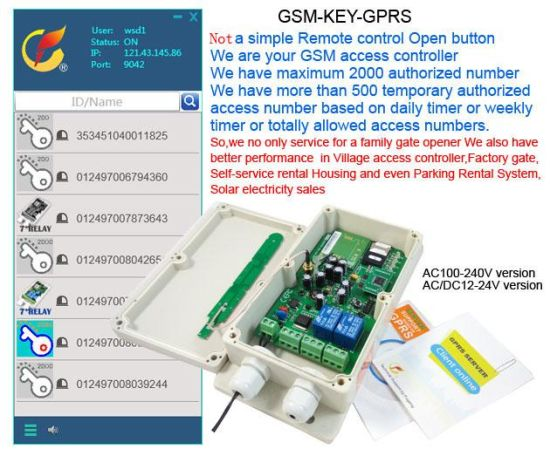 GSM Key to Automatic Door Opener pictures & photos