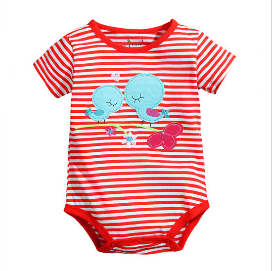Newest Cheap Customize Unisex Lovely Soft Cotton Comfortable Baby Romper