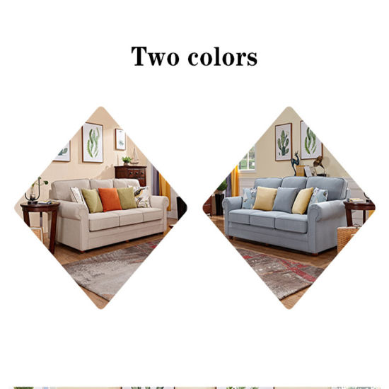 American Simple Small Family Fabric #Sofa Living Room Double Light Luxury  Fabric #Sofa Combination 9-9