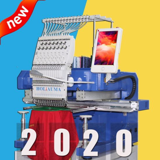 10 Years Service! ! ! Single Head Computer Embroidery Machine High Speed Multi Function Hat T-Shirt Gamrment Embroidery Machine Made in China