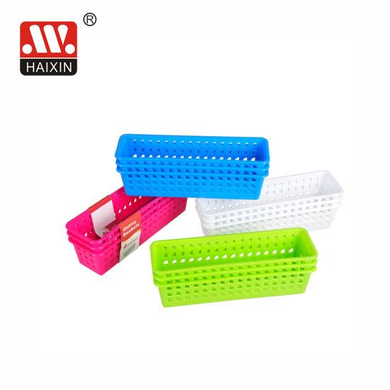 Plastic Storage Basket for Bathroom, Kitchenware, Office Stataionery Organizer