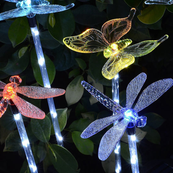 Solar Garden Stake Lights Outdoor, Color Changing Solar Lamp