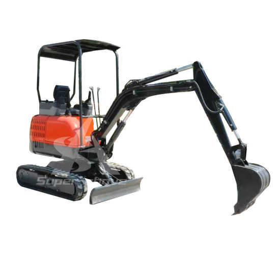 Chinese Construction Machinery 1-2t Mini Crawler Hydraulic Excavator for Sale