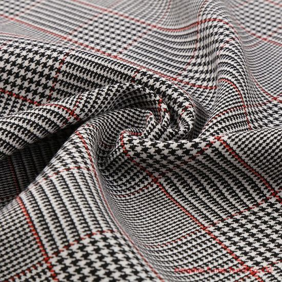 Colorful Yarn Dyed Polyester Rayon and Spandex Fabric for Suits