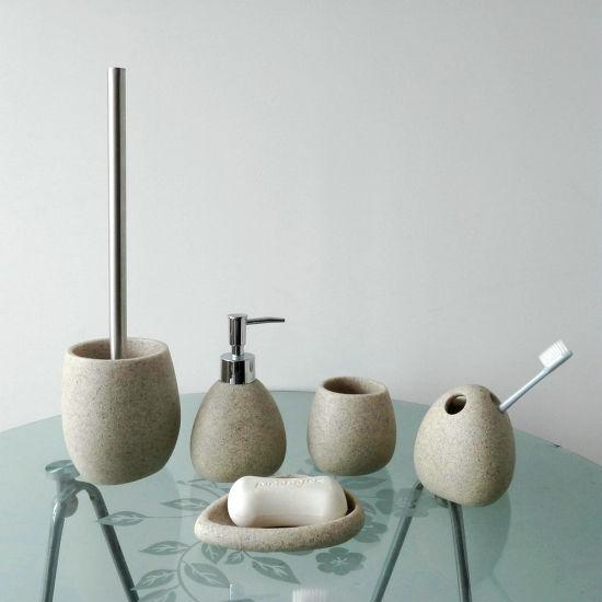 High Quality Home Decoration 5 PCS Polyresin Bathroom Set