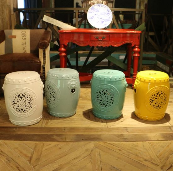 Astonishing Ceramic Garden Stool Ls 164 Pabps2019 Chair Design Images Pabps2019Com