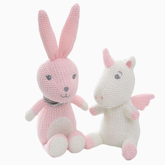 Dinosaur Unicorn Animal Knitting Plush Toy