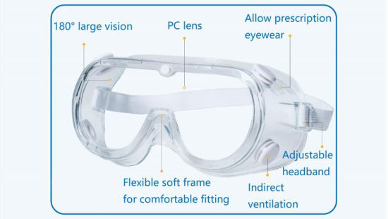 Medical Safety Goggles Protective Glasses Blocking Body Fluids Blood Splashes