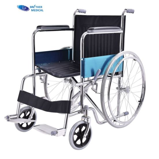 China Best OEM/ODM Medical Wheelchair Manufacturer 809 Chrome Cheapest Wheelchair