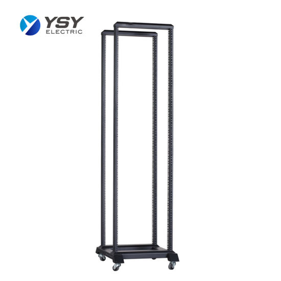 Custom Welded Frame Open Rack Floor Standing Network Cabinet
