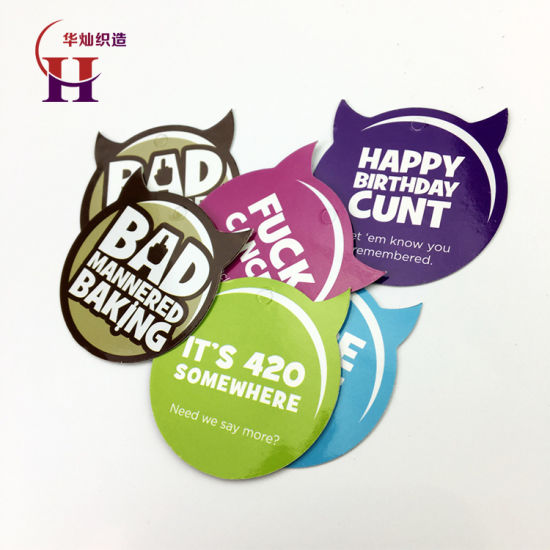 Custom Paper Garment Hang Tag of New Design