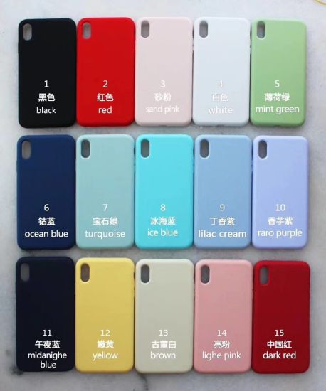Mobile Phone Silicone Case for iPhone Xr and Xs Max