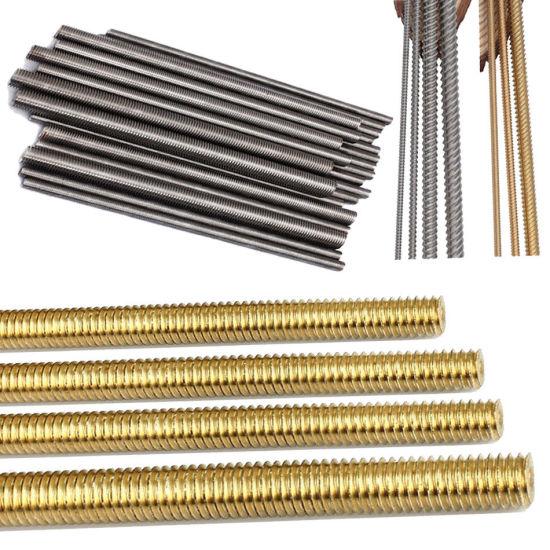 Brass Fully Threaded Rod 36 Length #8-32 Thread Size Right Hand Threads
