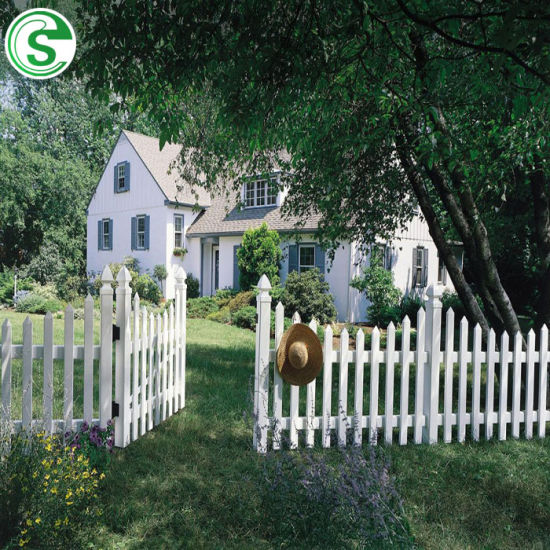 ISO Certificated High Quality Garden Flower Yard White Vinyl PVC Picket Fence