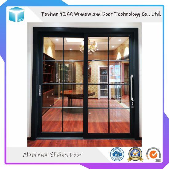 Aluminium Profile Tempered Glass Sliding Door for Villa/House/Apartment/Building