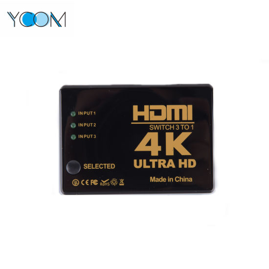 YCOM HDMI Switch 3-in and 1 Output HDMI 1.3b Switcher
