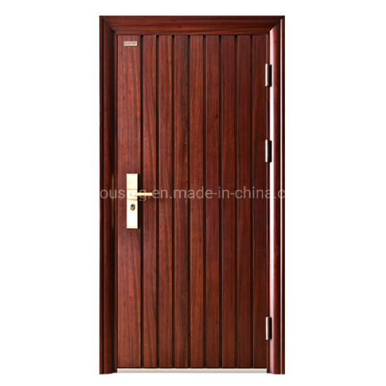 Customized Single Steel Security Door with Grade a Standard Zf -Ds-009