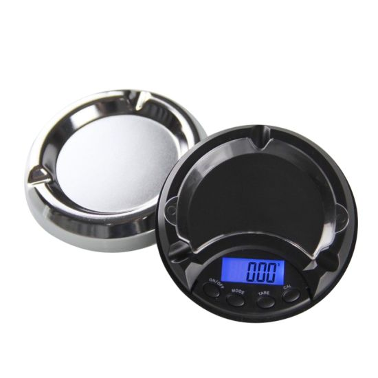 Portable Ashtray Digital Electronic Pocket Scales Gold Silver Jewelry Scale