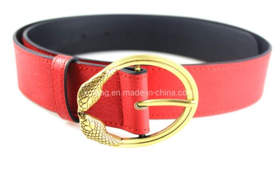 Stylish Wide Ladies Waist Belts Leather PU Red Belt pictures & photos