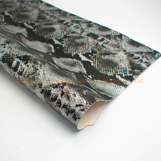 Wholesale Faux Synthetic Snake PU/PVC Leather Good Prices for Making Shoes/Bags/Belt Material