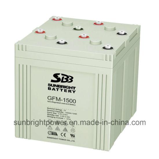 Power Solar Panel Rechargeable Deep Cycle 2V1500ah Lead Acid Battery